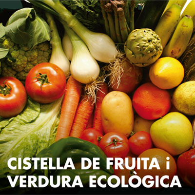 Cistella de fruita i verdura ecològica