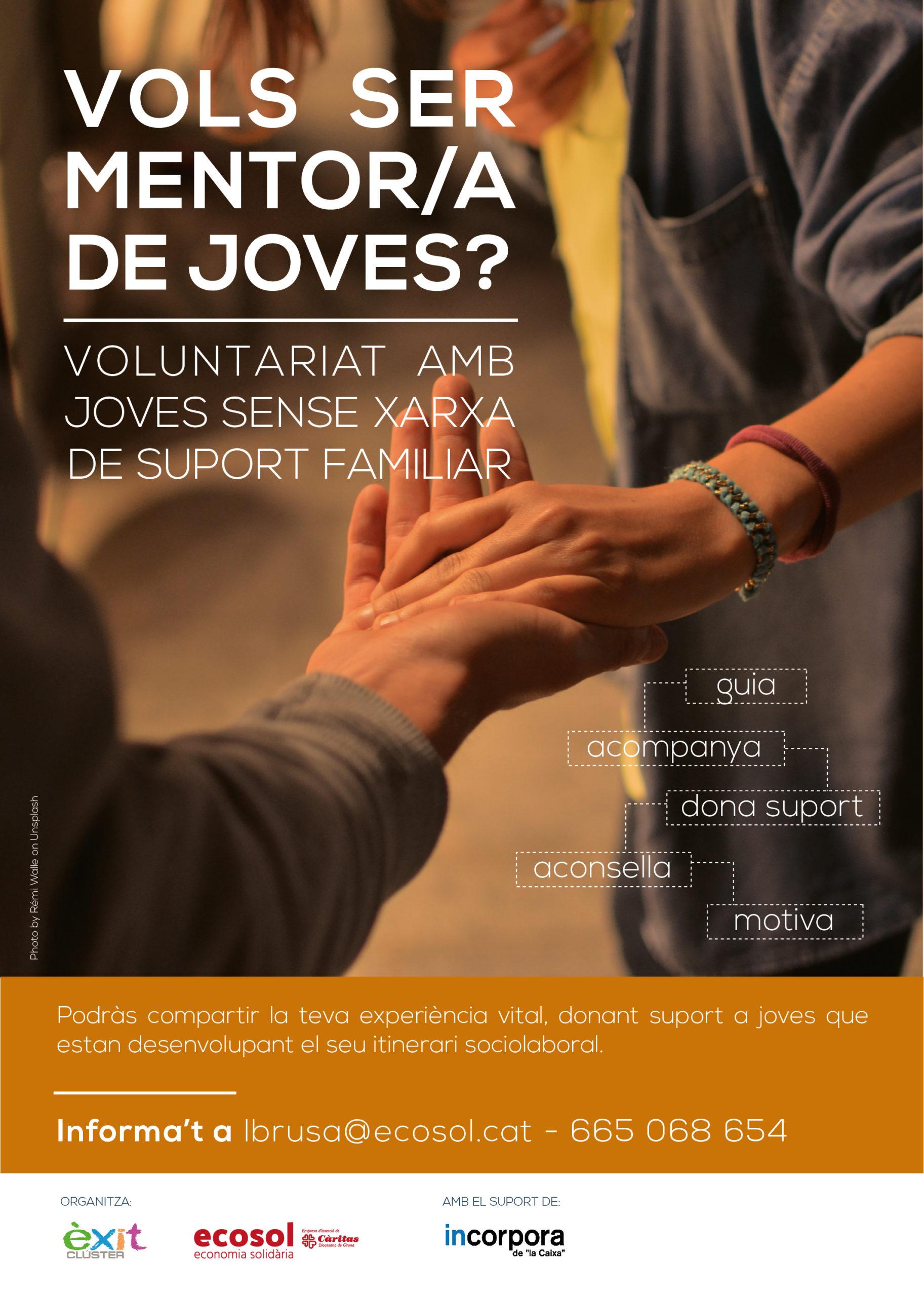 Nova campanya de cerca de persones mentores per a joves atesos pel programa Incorpora