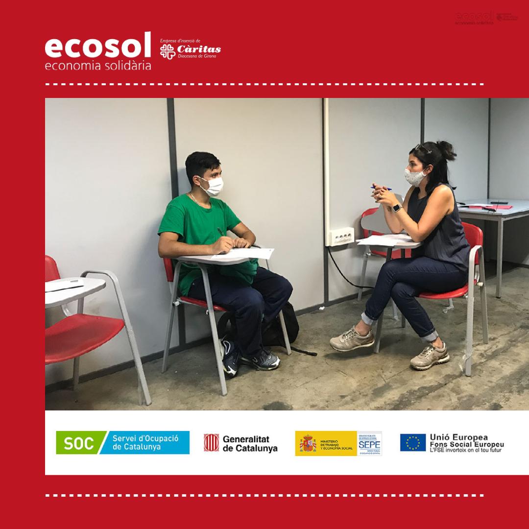 Una desena de joves contractats per Ecosol gràcies al programa Treball i Formació